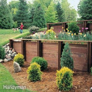 How to build a retaining wall stronger family handyman how to build a treated wood retaining wall solutioingenieria Gallery