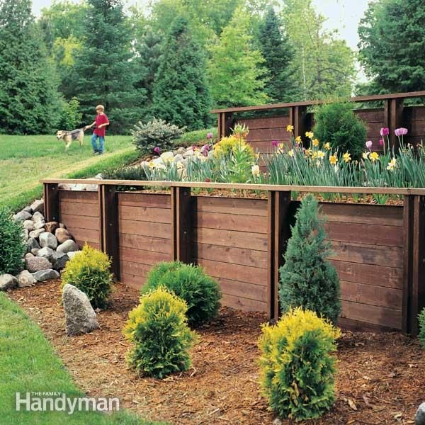 How to build a treated wood retaining wall family handyman for 43591 white cap terrace