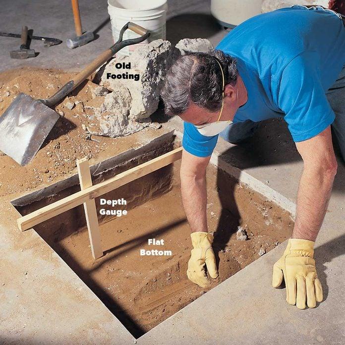 Dig the footings