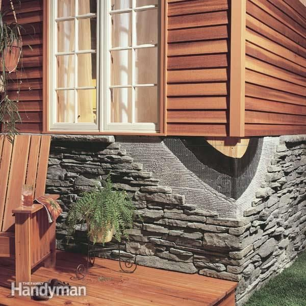 How To Install Stone Facing Family Handyman