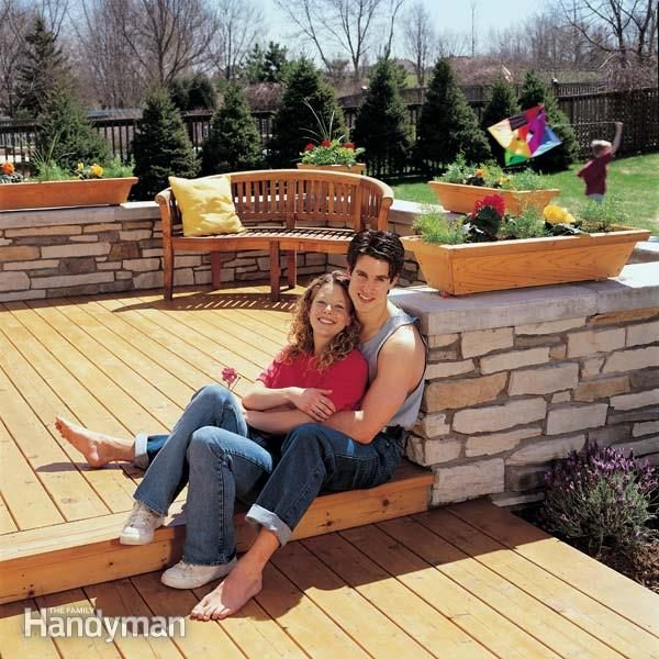 Blueprints For Patio Decks: How To Build A Wood And Stone Deck