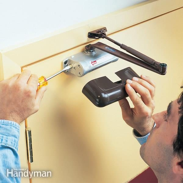 Making A Garage Service Door Automatic Family Handyman