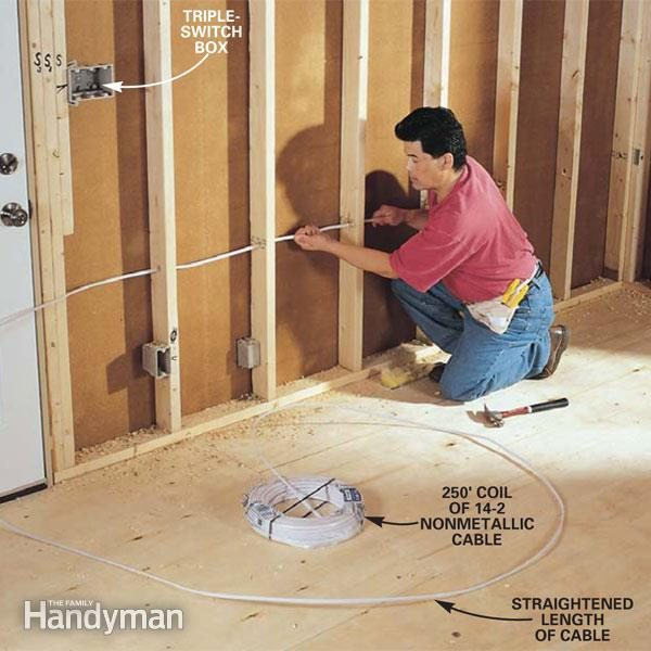 how to rough in electrical wiring the family handyman rh familyhandyman com Basic House Wiring Diagrams electrical wiring for bedroom