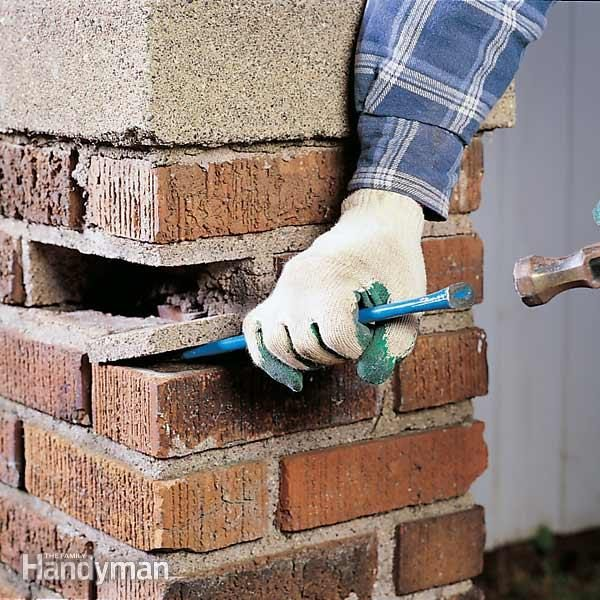 How To Reset A Loose Brick The Family Handyman