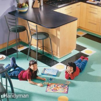 How to Lay a Vinyl Tile Floor (VCT flooring)