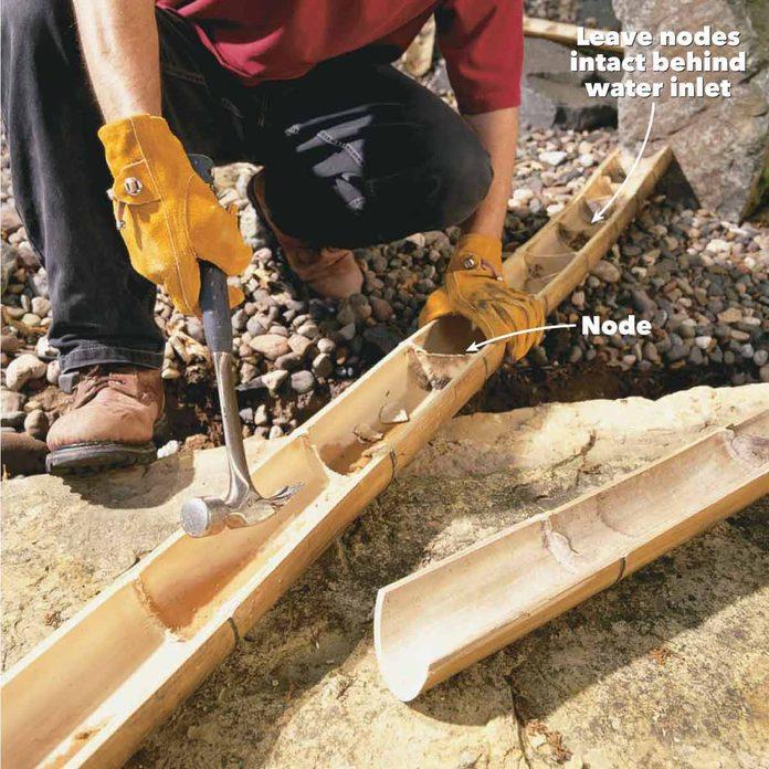 diy bamboo water pipe