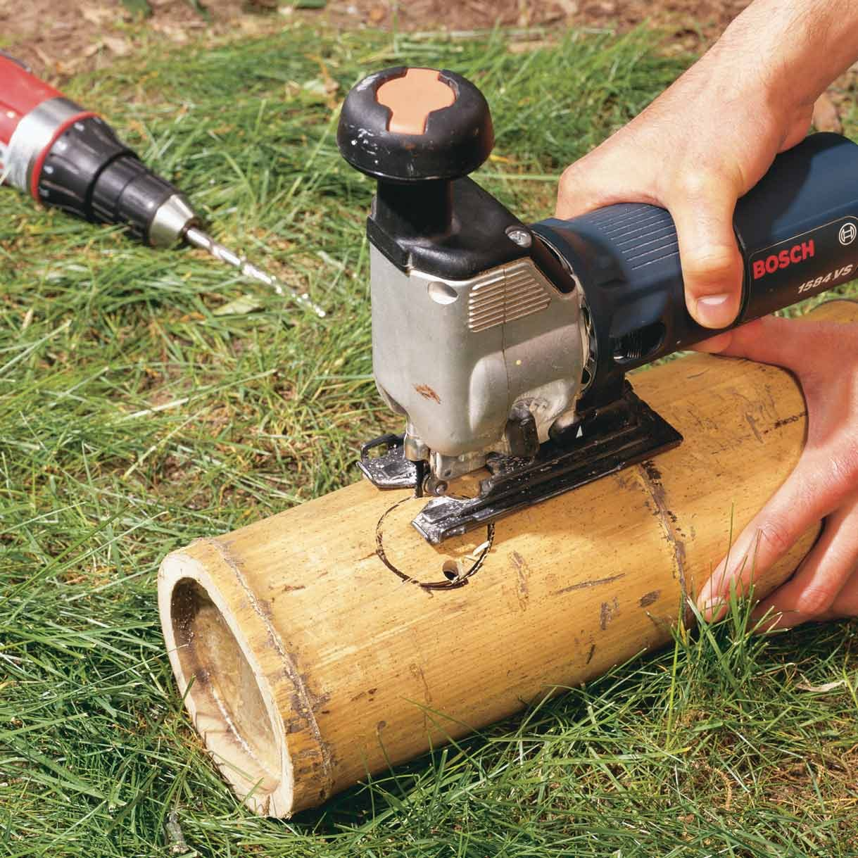 jigsaw bamboo hole diy