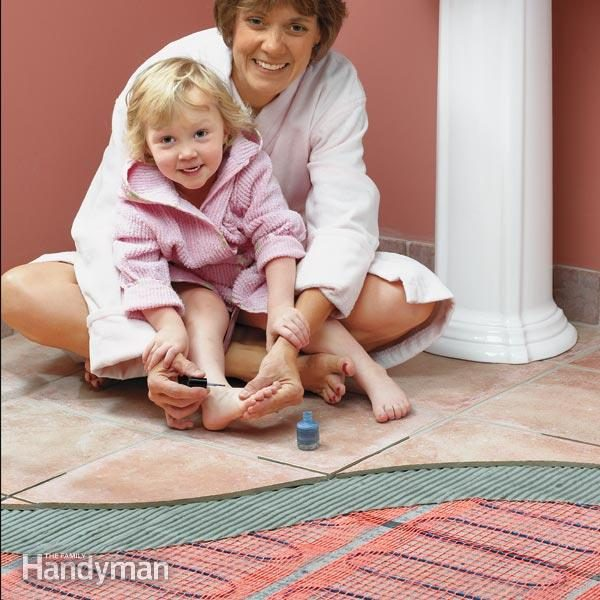 How To Install In Floor Heat | The Family Handyman