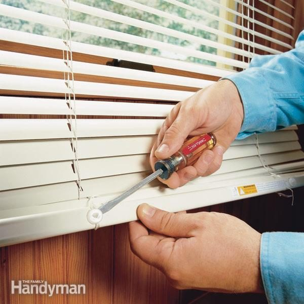 Shortening Horizontal Window Blinds The Family Handyman