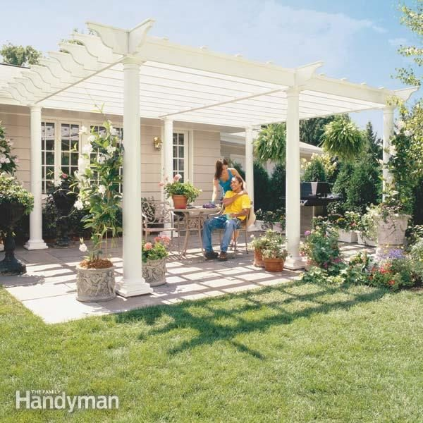 How to Build a Pergola Pergola Plans The Family Handyman – Arbor Patio Cover Plans