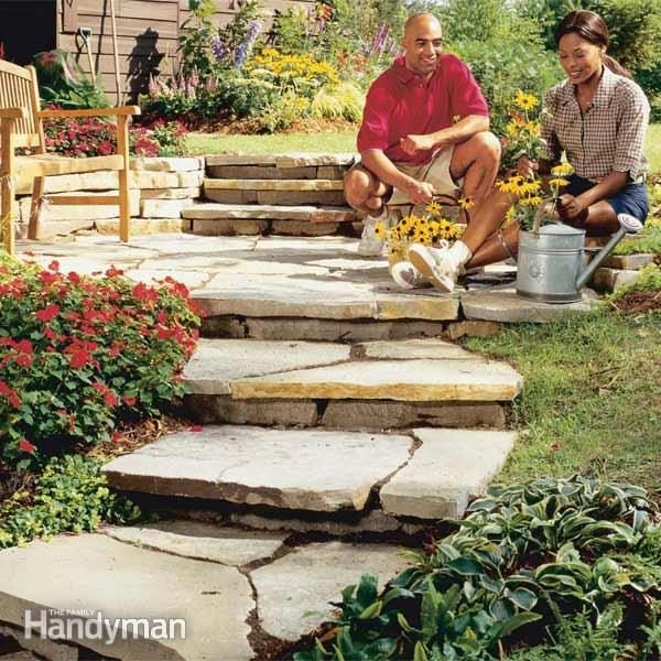This Easy To Build Natural Stone Path Will Last A Lifetime
