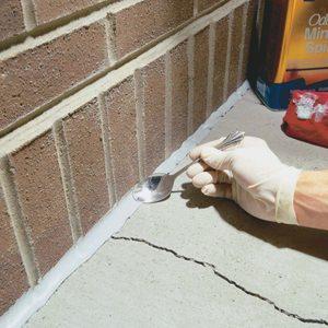 Caulking Concrete Cracks