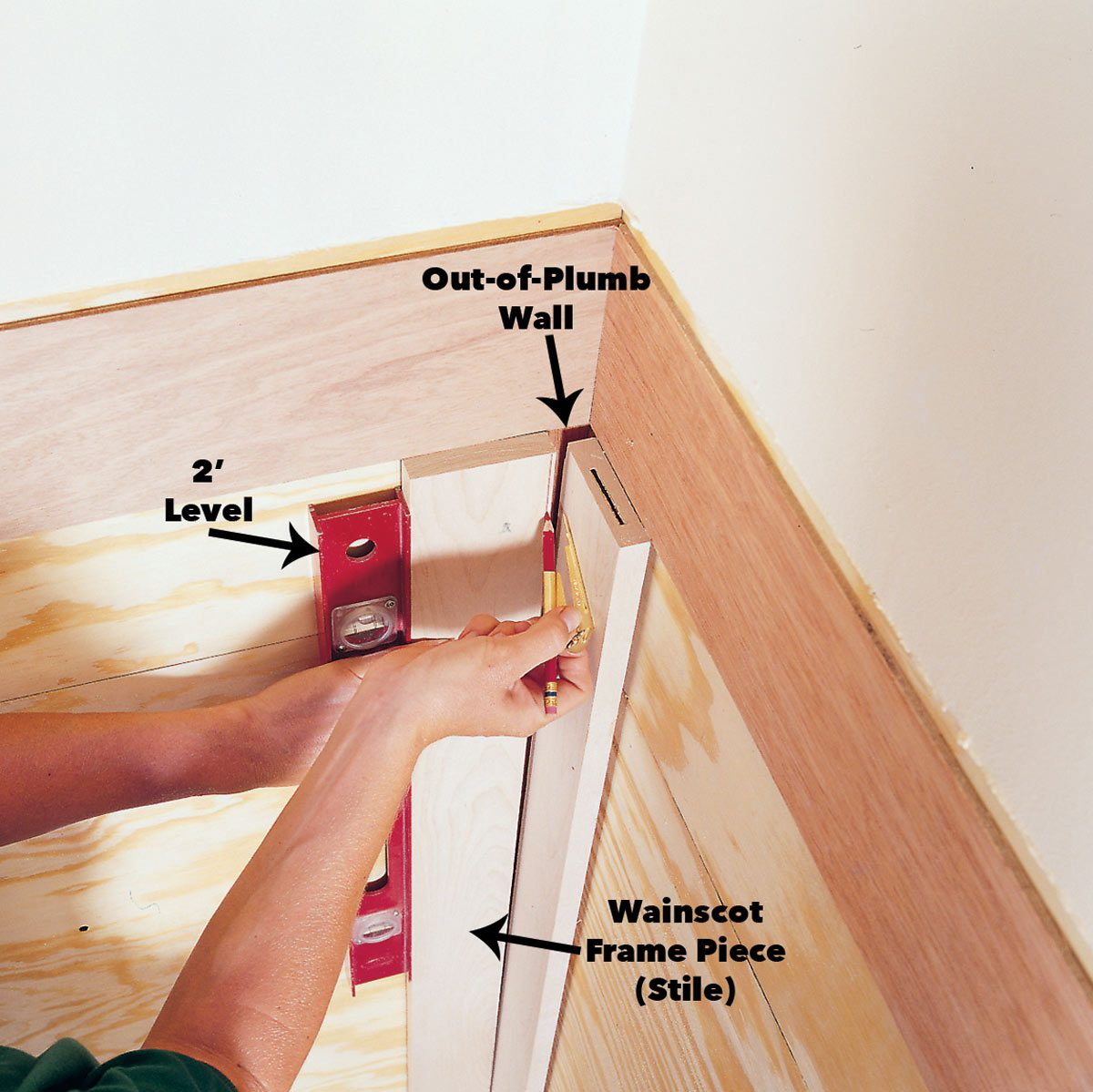 How To Scribe For A Perfect Fit Using A Woodworking