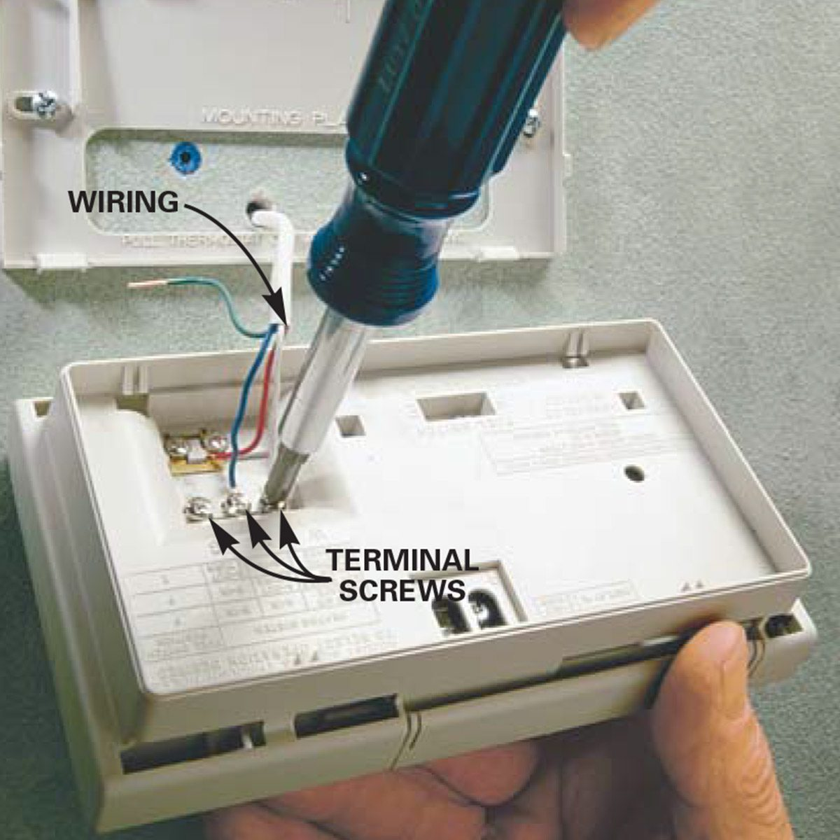How To Install A Thermostat The Family Handyman Mercury Wiring Oil Furnace New