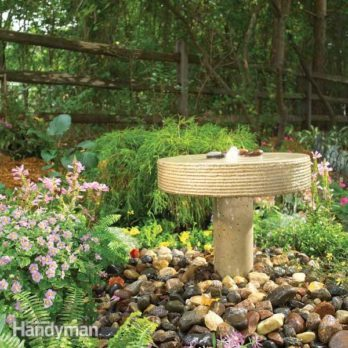 How to Build a Garden Fountain
