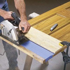 How to Cut Off Wood Door Bottoms