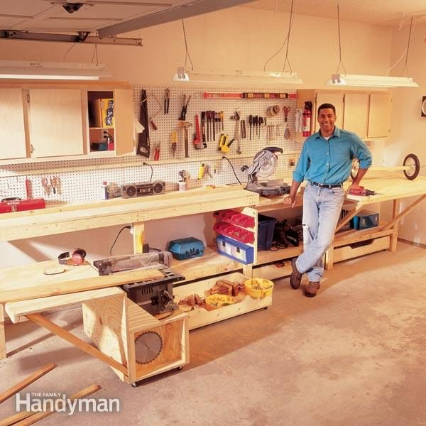 Modular workbench the family handyman for Simple workshop table