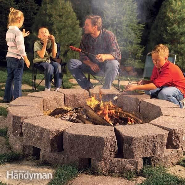 How To Build A Stone Fire Pit Ring Family Handyman