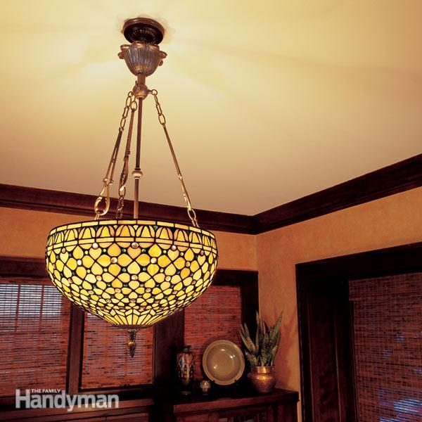How to Hang a Ceiling Light Fixture | The Family Handyman