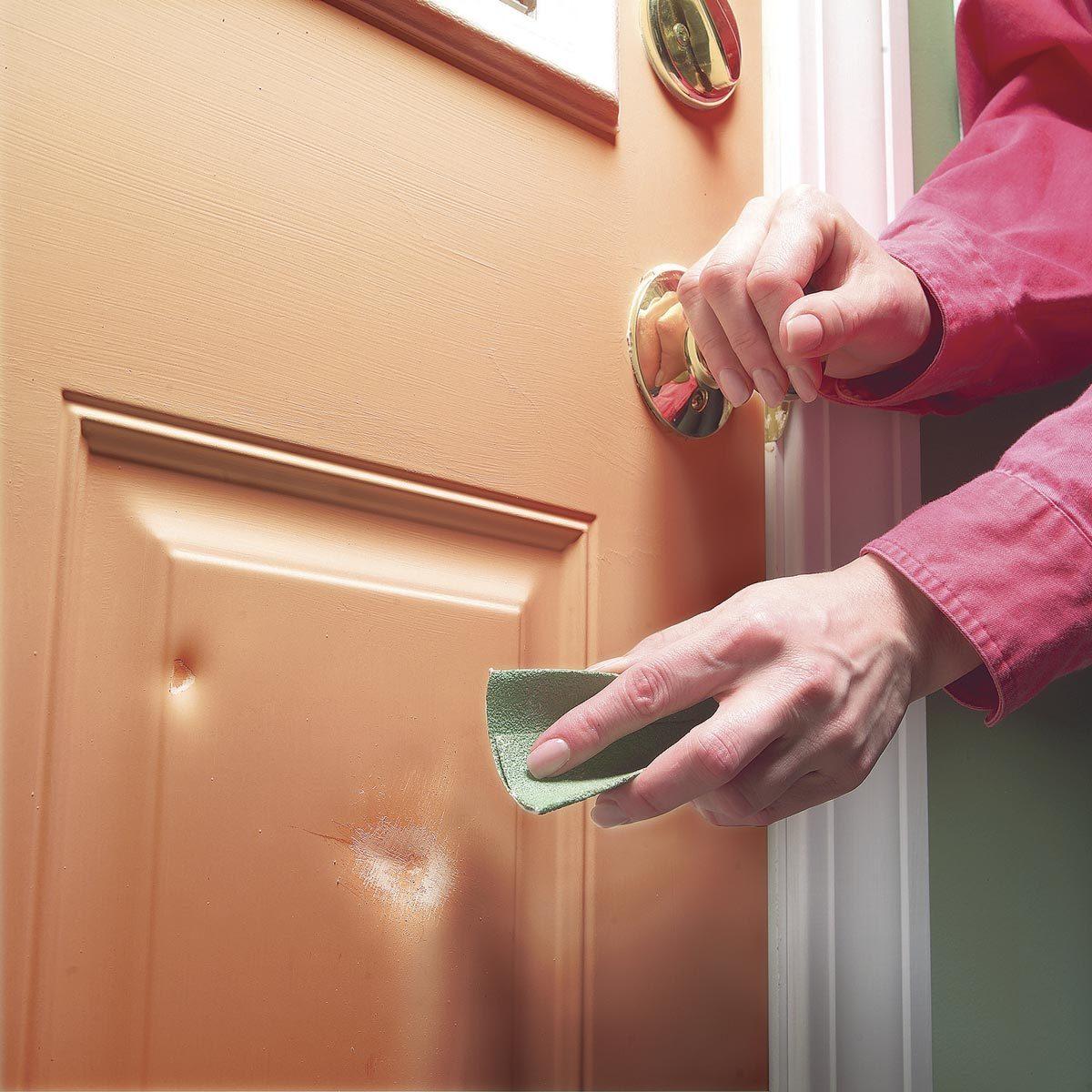 Patch Dents in a Metal Door | Family Handyman