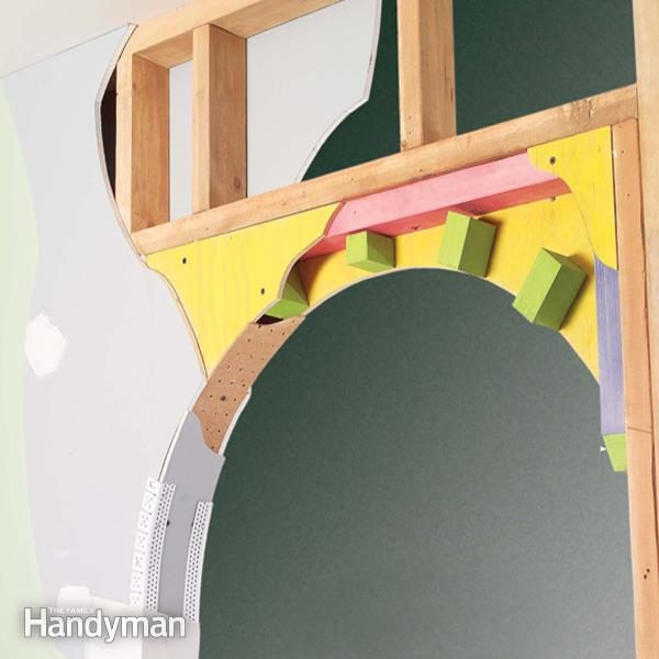 How to build a drywall arch the family handyman for Ways to cut cost when building a house