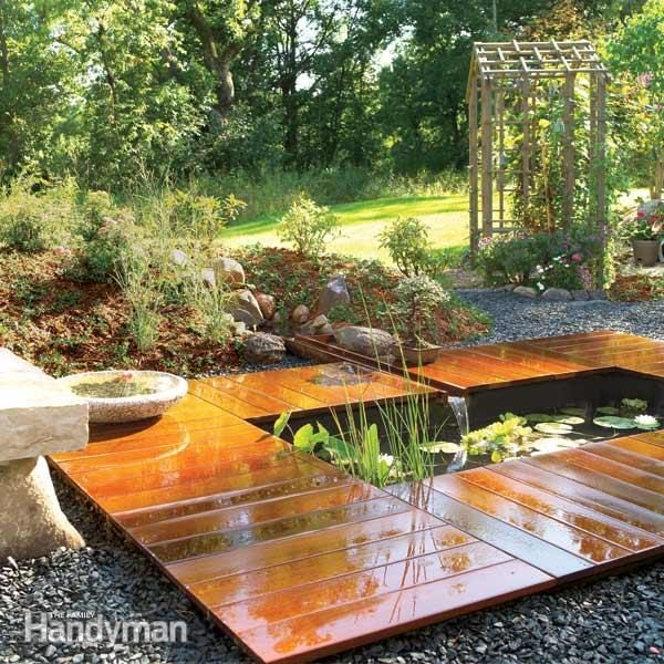 How to build a garden pond and deck family handyman for Diy patio pond