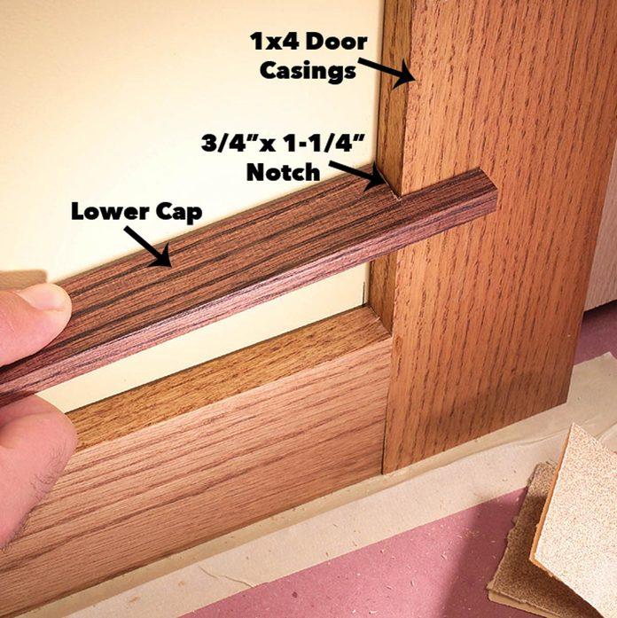 Notch lower baseboard cap