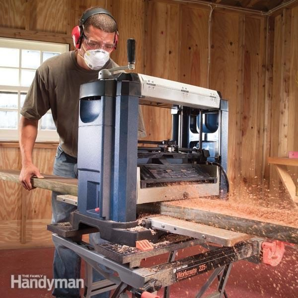 How To Use A Benchtop Wood Planer The Family Handyman