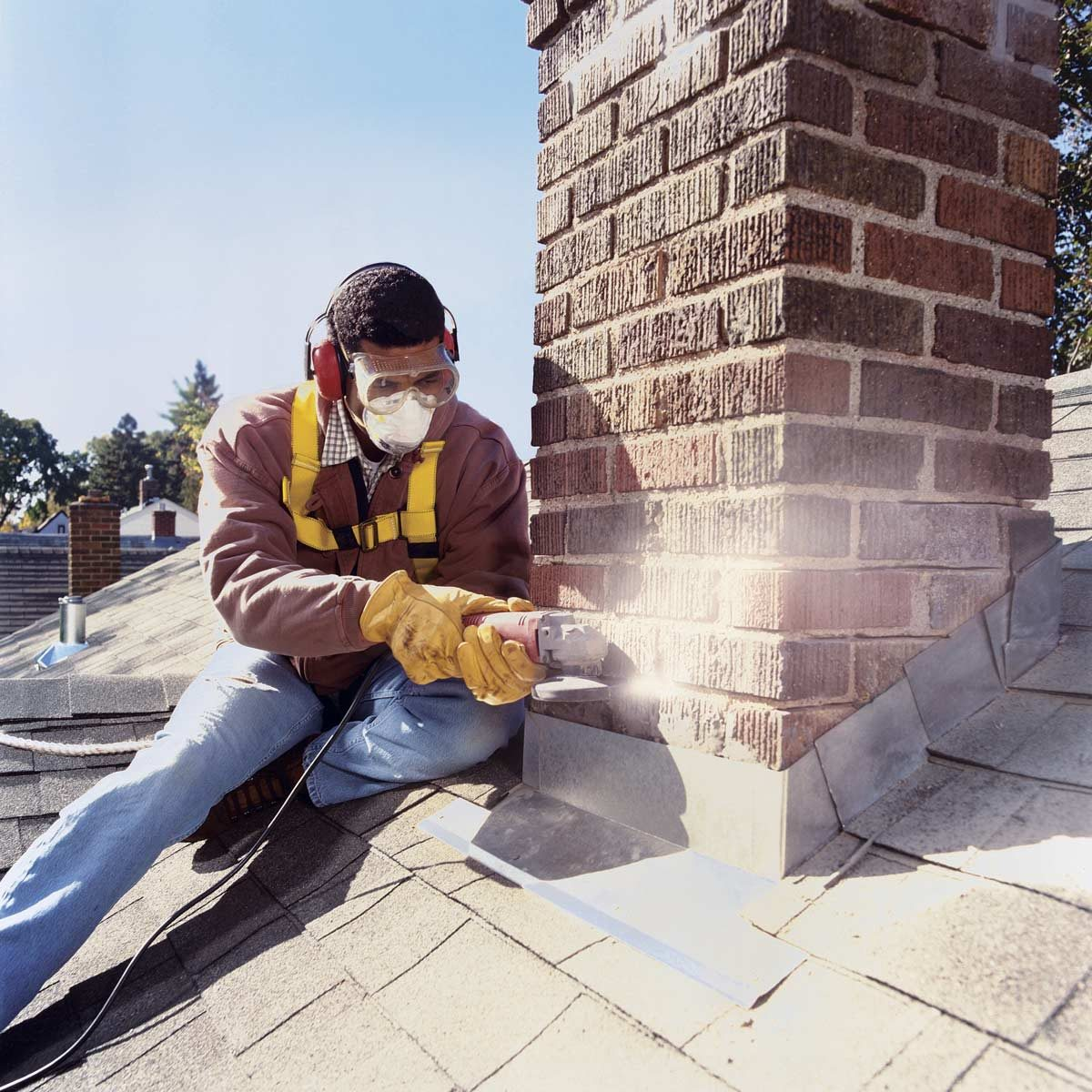 Installing Chimney Flashing Family Handyman