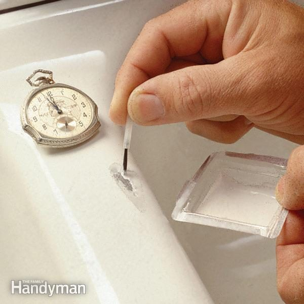 How To Fix A Chipped Sink The Family Handyman