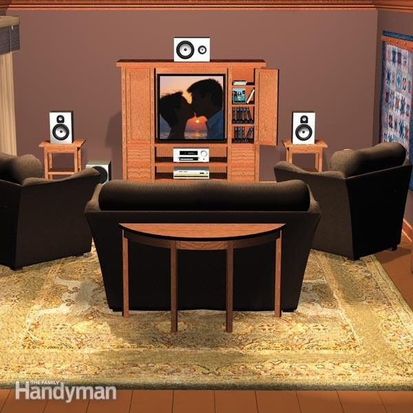 home theater setup the family handyman rh familyhandyman com  how to wire a home theatre room