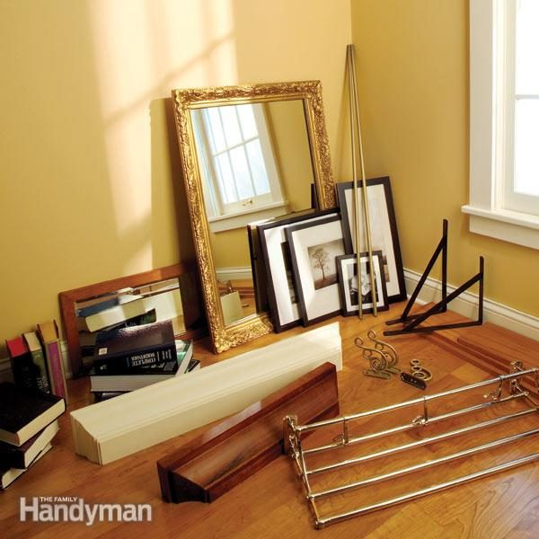 Hanging Shelves Hanging Mirrors And Hanging Towel Bars