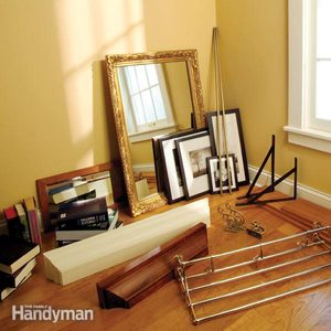 Hanging Shelves, Hanging Mirrors and Hanging Towel Bars