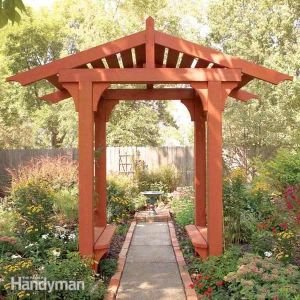 How to Build a Timber Frame Garden Arbor Family Handyman