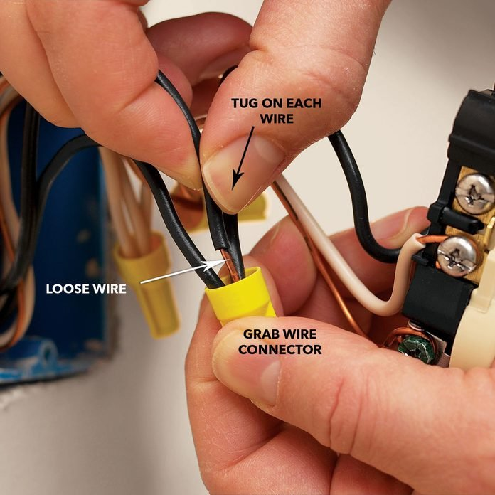 tug wires at connectors to check for loose wires