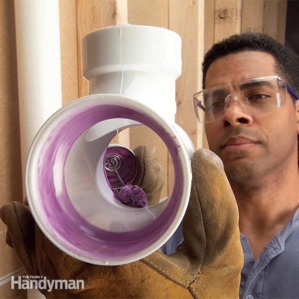 How To Glue Pvc And Join Plastic Pipe The Family Handyman