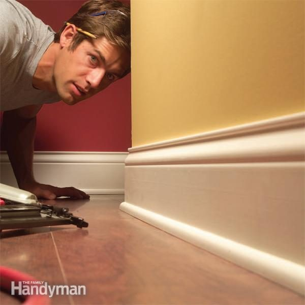 How To Install Baseboard Trim Even On Crooked Walls