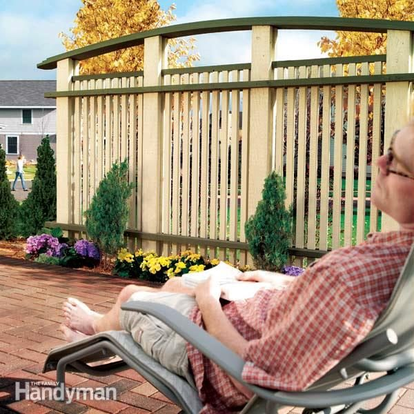 How To Build A Patio Privacy Screen The Family Handyman