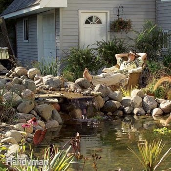 How To Build A Pond And Waterfall In, Images Of Garden Ponds With Waterfalls