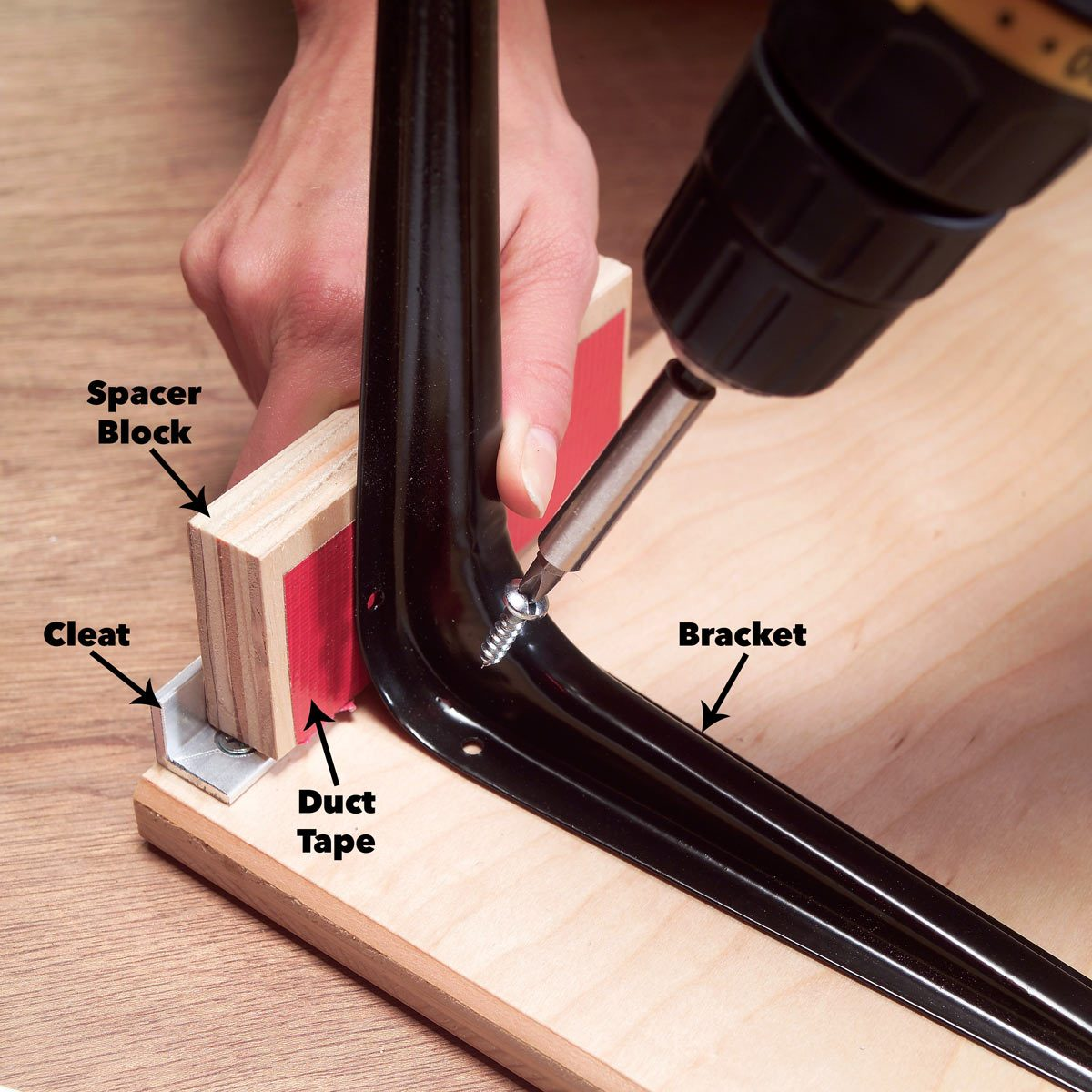 add shelf brackets