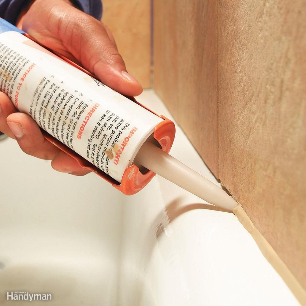 Replacing moldly caulk