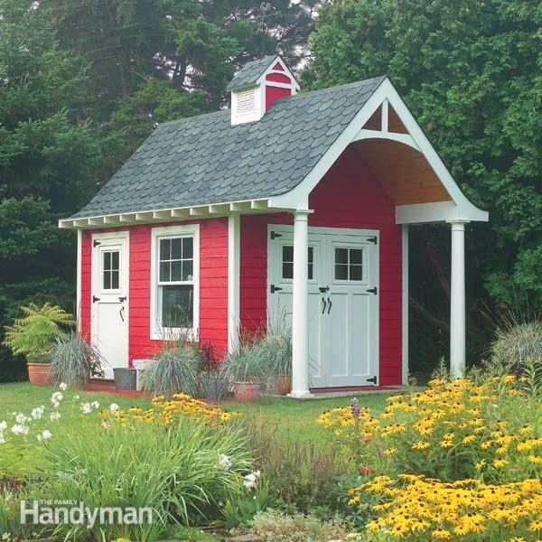 Garden Sheds With Porch tips for building a storage shed | family handyman