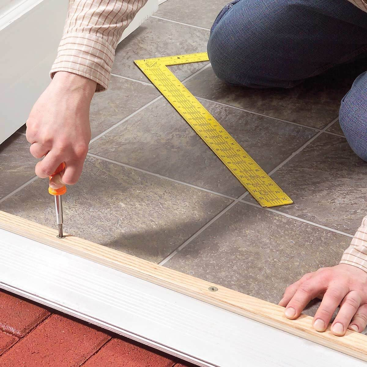 How To Raise An Adjustable Entry Door Threshold Family Handyman