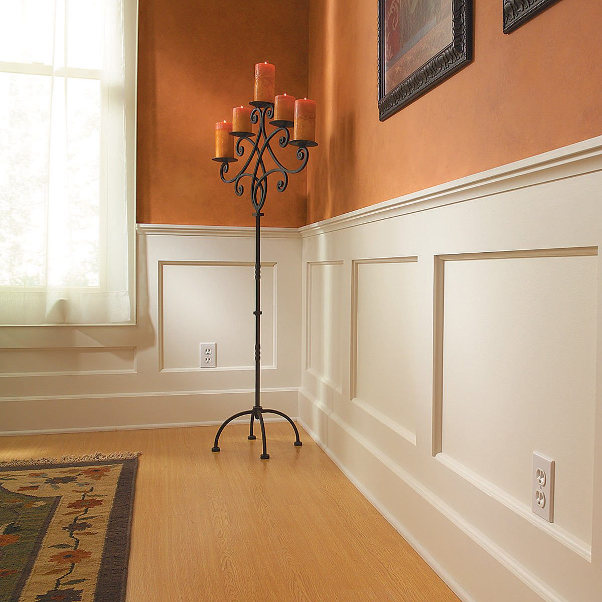 wood wainscoting panels, shaker wainscoting, full wall wainscoting, recessed panel wainscoting