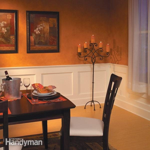 How to Build a Wainscoted Wall The Family Handyman