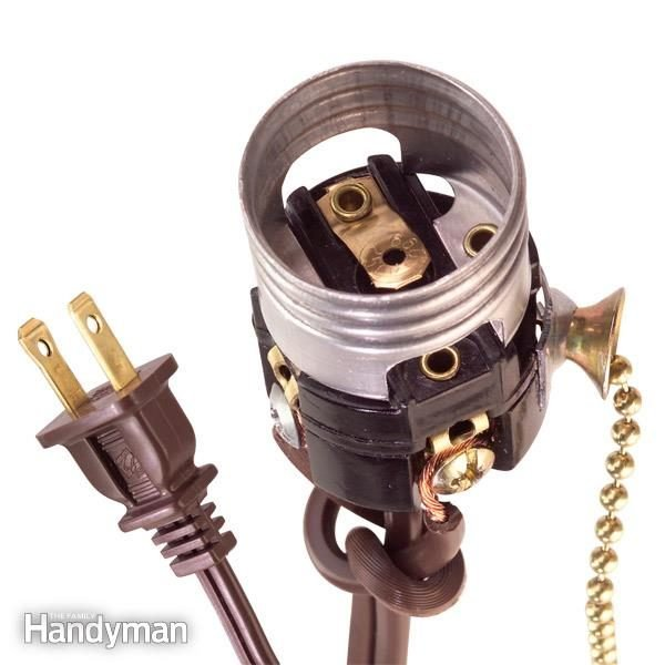 how to wire a light socket the family handyman. Black Bedroom Furniture Sets. Home Design Ideas