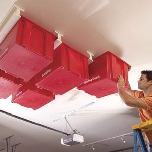 How to DIY a Ceiling Garage Storage System