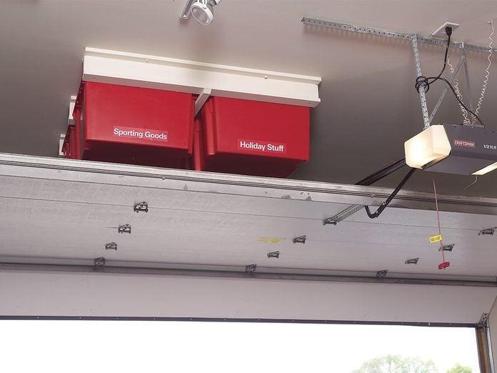 storage above garage door