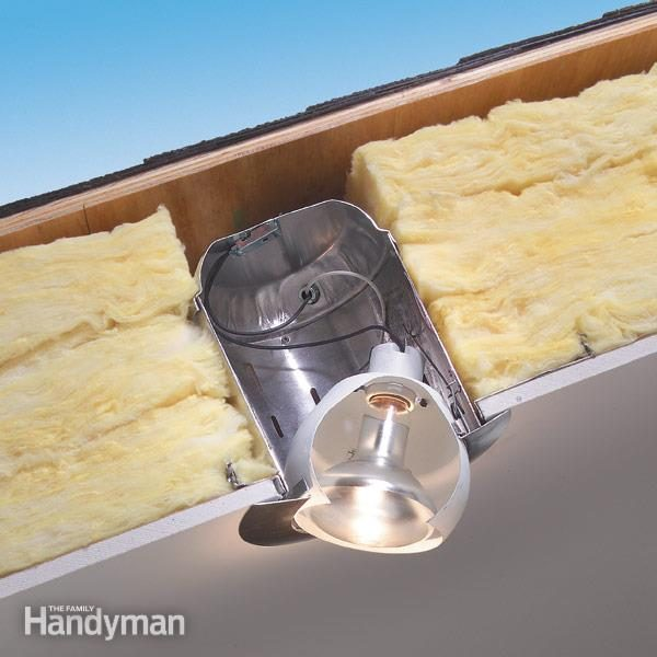 How to use insulated can lights in ceilings family handyman fh05sepcanlig01 2 aloadofball Choice Image