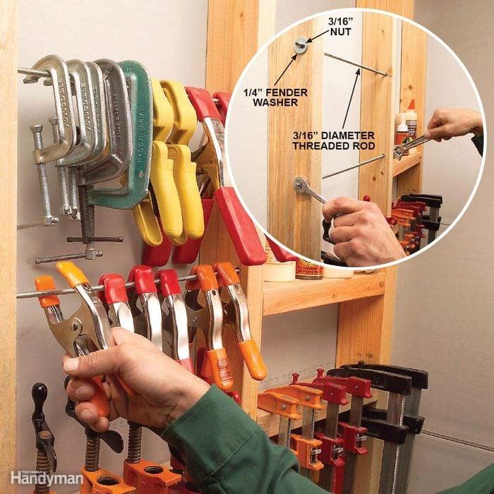 Studly clamp storage